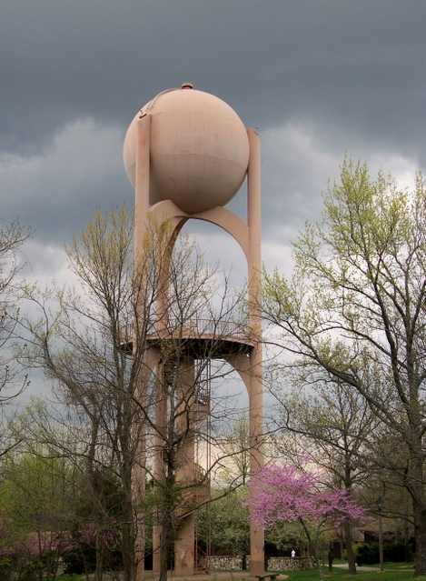 thirsty in suburbia a water tower you can climb