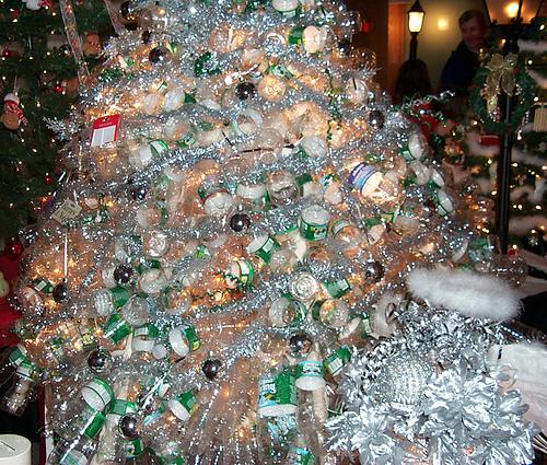 Christmas Tree Disposal San Diego: Water Bottle Christmas Trees