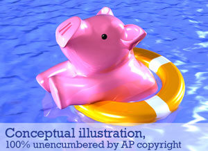A swimming pig NOT from the Associated Press