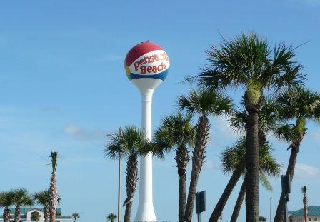 pensacola beach ball water tower