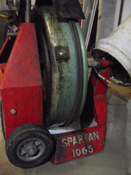 Spartan sewer drain cleaning machine used by At Your Service drain specialists Kansas