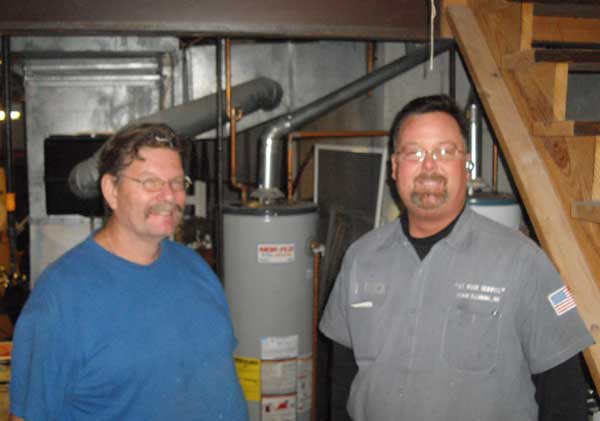 Dan and Pat from At Your Service drain specialists Kansas