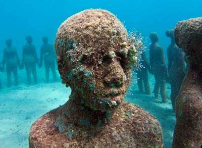 Detail, Vicissitudes by Jason deCaires Taylor, Grenada, West Indies