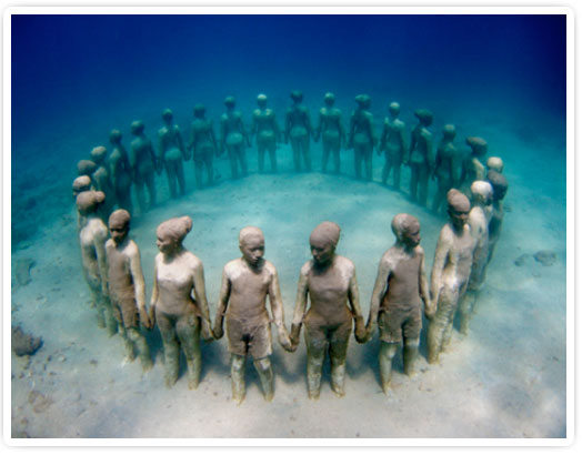 Vicissitudes by Jason deCaires Taylor, Grenada, West Indies