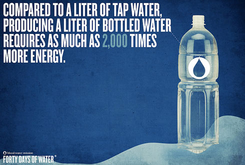 tap water forty days of water poster