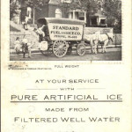 artificial ice vintage postcard