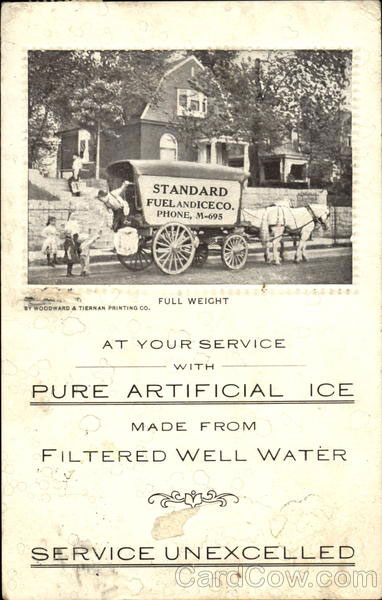 artificial ice vintage postcard