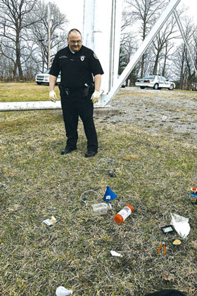 Not litter but evidence. Photo: thenewsjournal.net