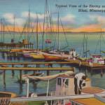 Old postcard of biloxi, mississippi