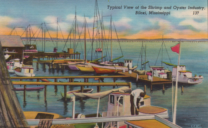 Old postcard of biloxi, mississippi