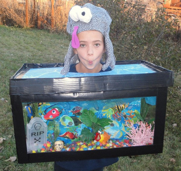fish water aquarium dyi halloween costume