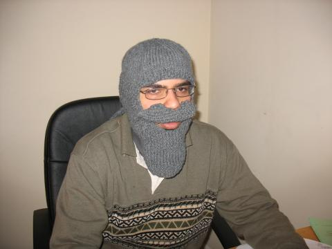 knitted grey beard aquadoc halloween costume