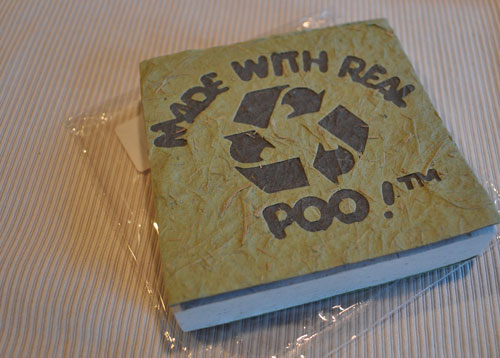 Poo paper scratch pad made from elephant dung