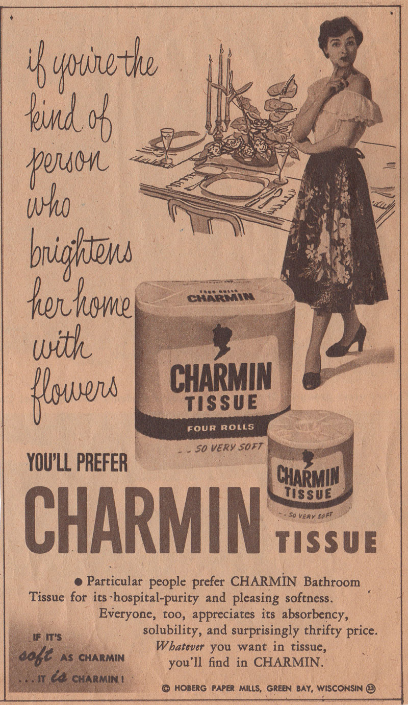 charmin bath tissue vintage advertisement