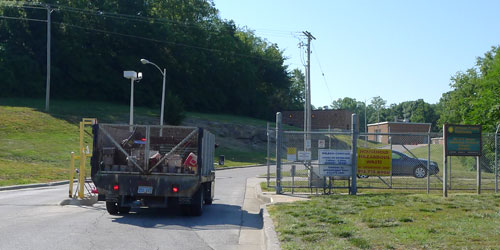 entrance gate Johnson County kansas environmental hazmat disposal facility