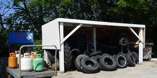 tire and propane tanks for disposal at johnson county kansas facility
