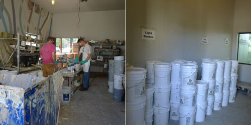 remixing recycled paint johnson county kansas environmental hazmat