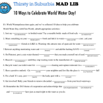 World water day mad libs game