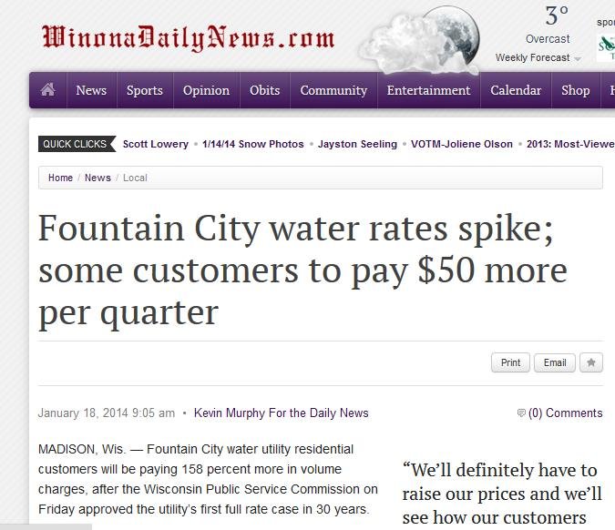 fountain city water rates headline
