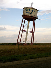 Britten Leaning Water Tower