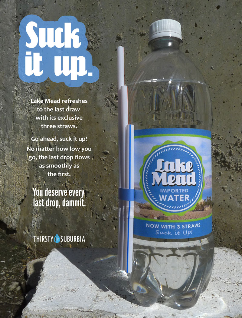 Lake Mead fantasy bottled water advertisement